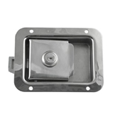 2 3/4 x 3 3/4 Locking Stainless Steel Flush Latch(Junior) L1883