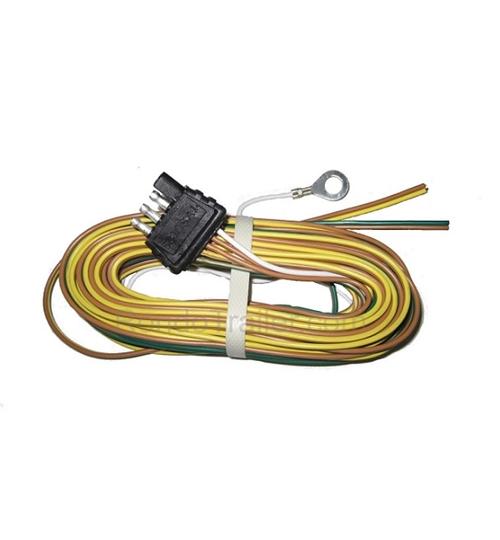 Optronics 30FT 18GA 4 Bonded Wire W/4 Way Plug Trailer End 430YH on