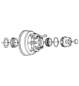 Al-Ko 8 on 6.5in Hub & Drum Kit For 9-12K Al-ko/Hayes Axles 9080568UC3