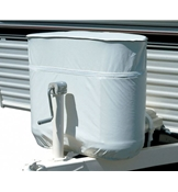 Adco White Vinyl Propane Tank Cover For Double 30lb Tanks AD2113