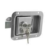 2 3/4 x 3 3/4 Locking Stainless Steel Flush Latch(Junior) w/Inside Release L1833