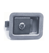 3 3/8 x 4 5/8 Locking Steel Flush Latch L3980