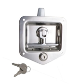 Locking Stainless Steel T-Handle Flush Latch L4080