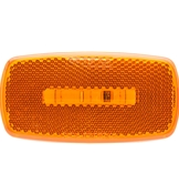 Redline Rectanguler Oblong Amber Clearance/Marker RV LED Light w/Black Base LT52-030