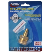 Valterra RV Fresh Water Blow Out Plug w/Brass Quick Connect P23510LFVP