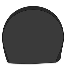 Adco Tyre Gard Black Vinyl Single Tire Cover For 40-42in Bus Tires AD3977